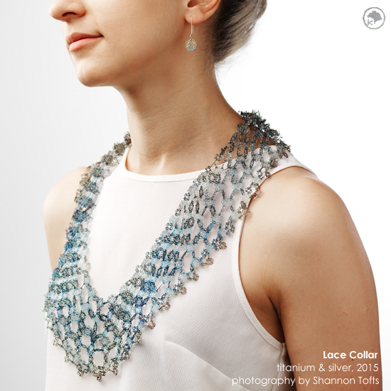 2015 Lace Collar: Titanium and Silver