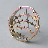2015 Wee Pink Brooch: Titanium and Silver